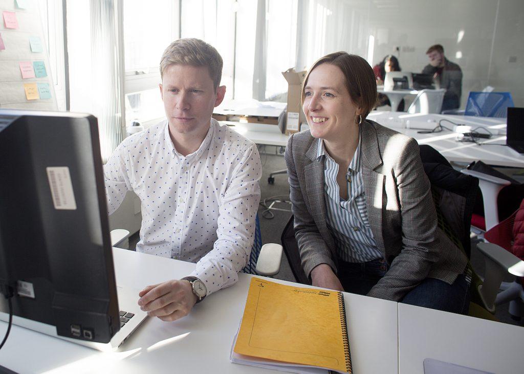 Cofounders of WhisperClaims, Jen Badger and Richard Edwards