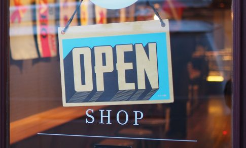 Image of open shop sign