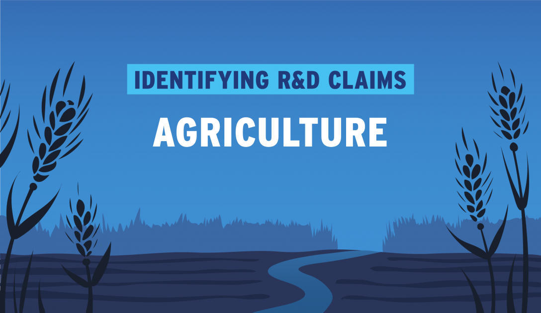 Banner for R&D in Agriculture