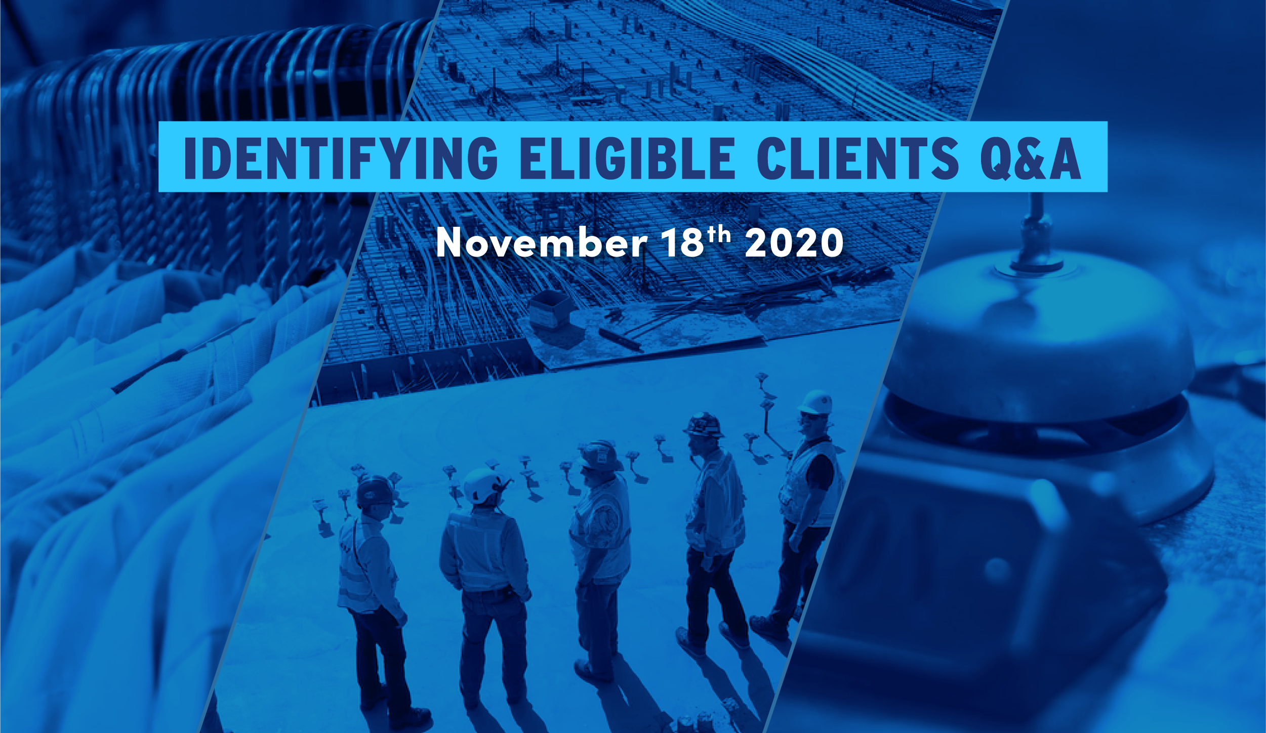 Banner for identifying eligible claims webinar Q&A