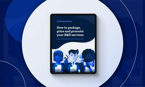 """Display image of WhisperClaims Ebook """"How to Package, Price and Promote your R&D Services"""""""