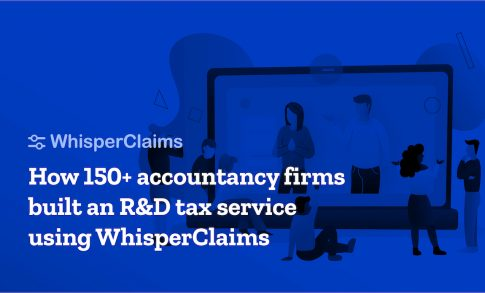 A banner for WhisperClaims' event aimed at targeting prospects; showcasing the software's functionality as well as the positive impact it's had on the R&D accounting sector.