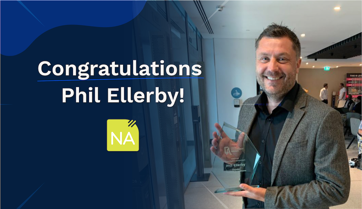 Phil Ellerby's victory photo at the 2021 Digital Accountancy Show